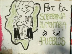 Mural Soberanía Alimentaria - Movimiento Aragón Libre de Transgénicos